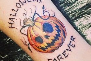 everyday is halloween tattoo