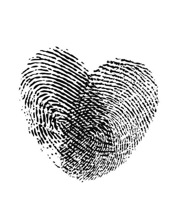 fingerprint Heart tattoo design