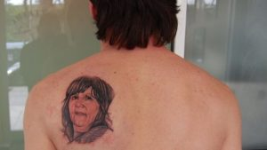 messi mother tattoo