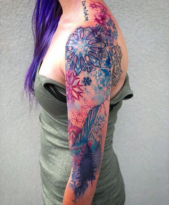 watercolor tattoo for women