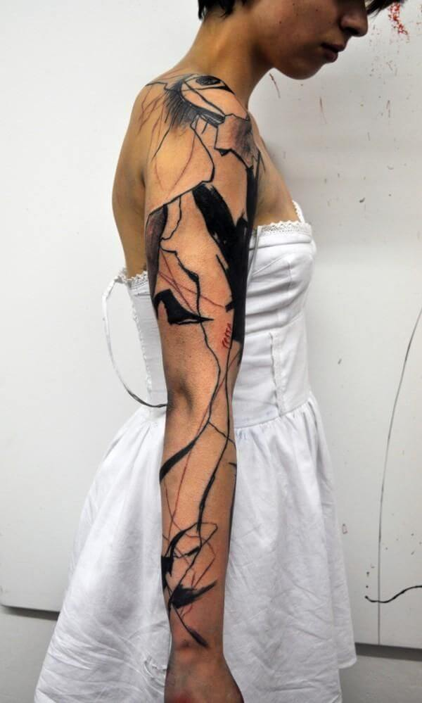Mindblowing abstract tattoo ideas for men and women 35