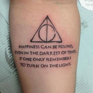 Mesmerizing Harry Potter tattoo ideas for men 21