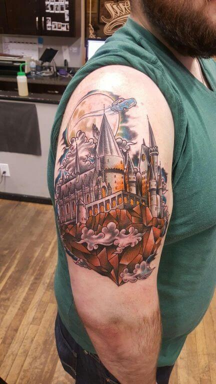 Mesmerizing Harry Potter tattoo ideas for men 26