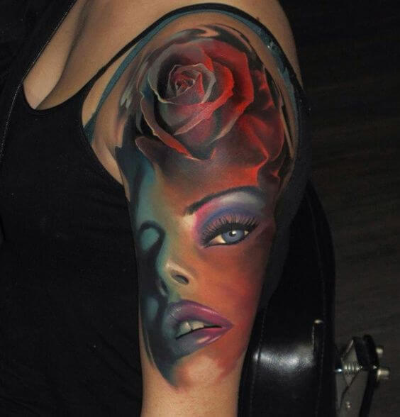 3d half sleeve tattoos for women