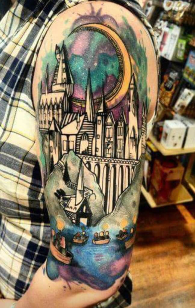 Mesmerizing Harry Potter tattoo ideas for men 40