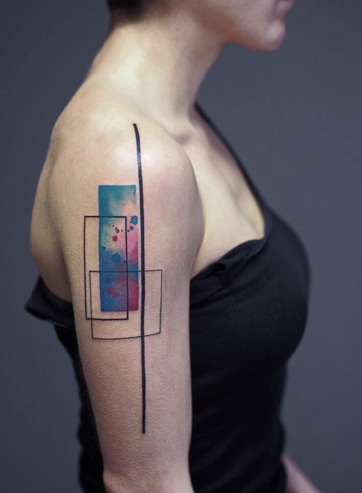 Mindblowing abstract tattoo ideas for men and women 32