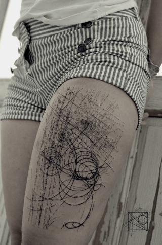 Mindblowing abstract tattoo ideas for men and women 28