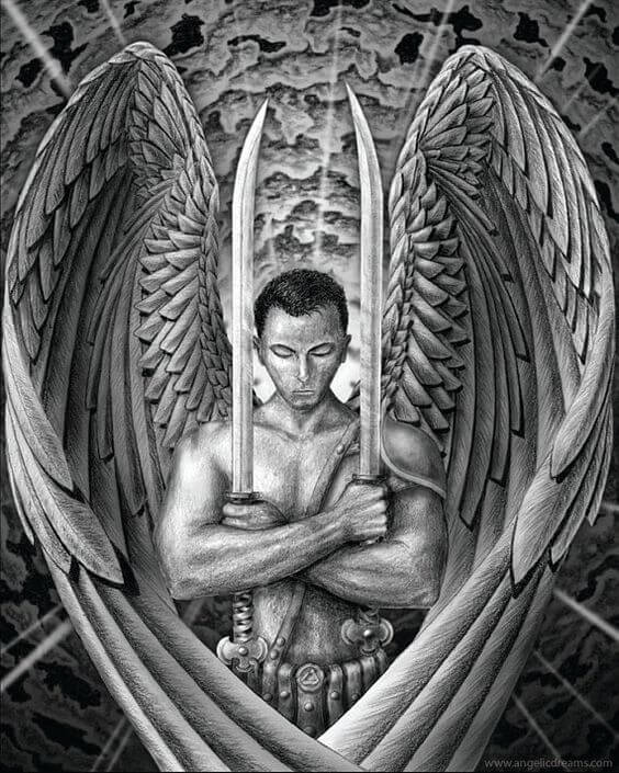 Archangel wing tattoo