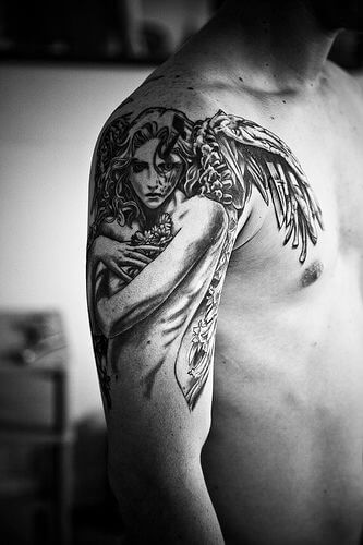 The Guardian angel tattoo