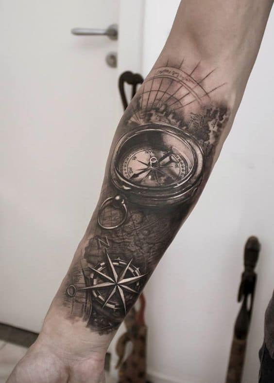 The compass tattoo