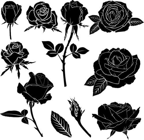 black roses tattoos