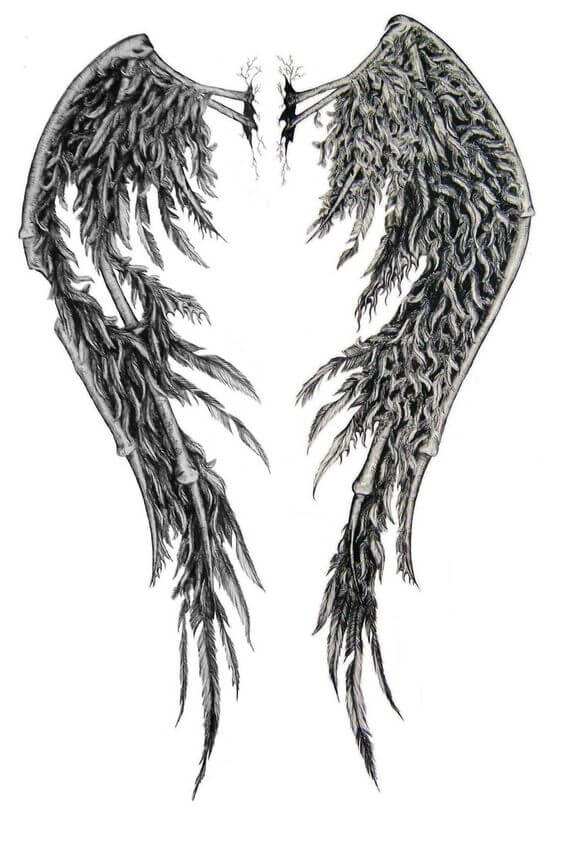 broken angel wings tattoo ideas