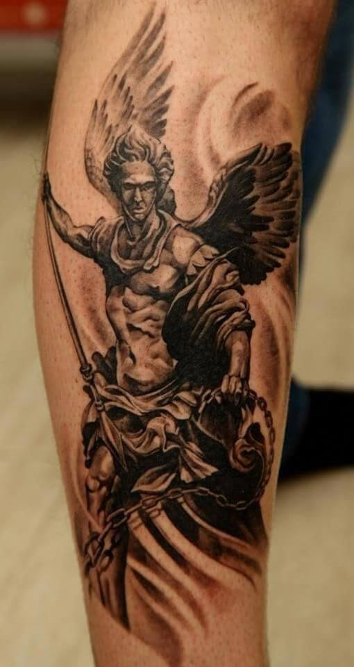 guardian angel tattoo forearm