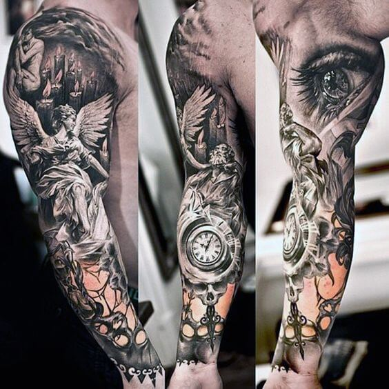 guardian angel tattoo sleeve
