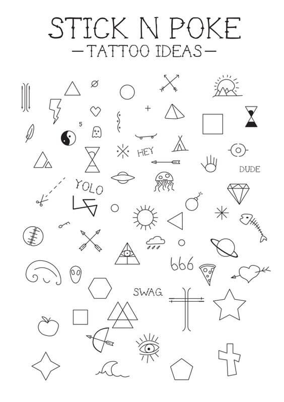 stick and poke tattoo ideas