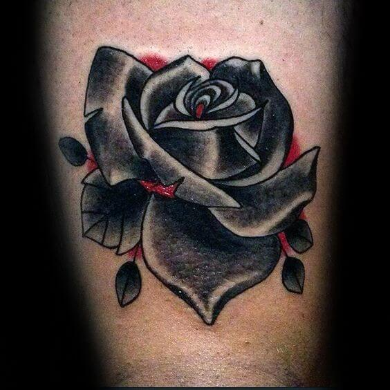 tradition black rose tattoo