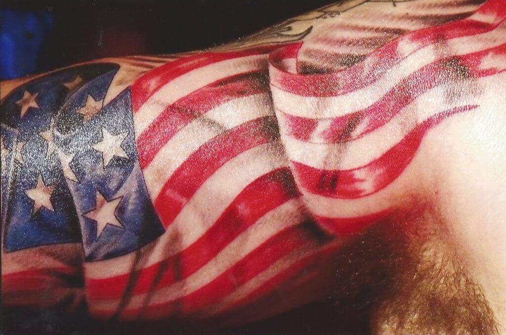 American Flag tattoo ideas for Men 22