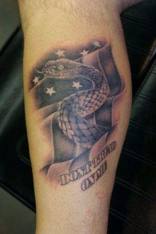 American Flag tattoo ideas for Men 23