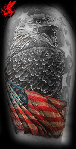 American Flag tattoo ideas for Men 20