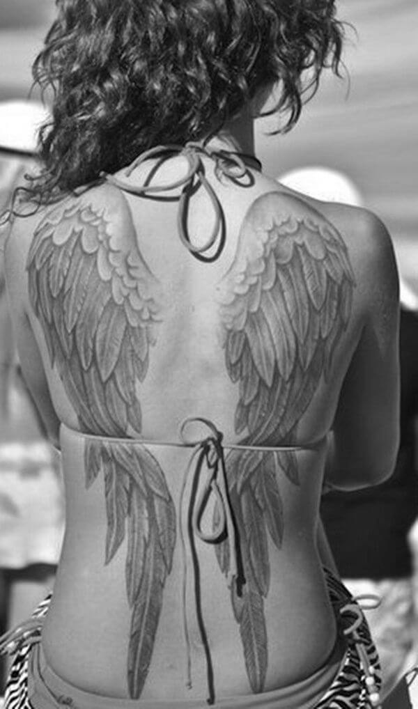 131 Angel wings tattoo ideas and meanings 4