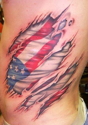 American Flag tattoo ideas for Men 25
