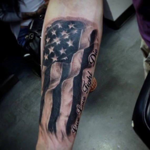 American Flag tattoo ideas for Men 16