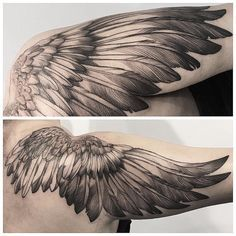 131 Angel wings tattoo ideas and meanings 29