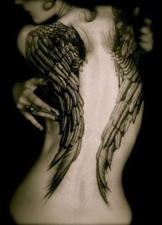 131 Angel wings tattoo ideas and meanings 19