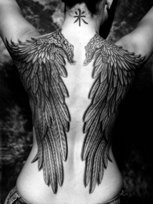 131 Angel wings tattoo ideas and meanings 20