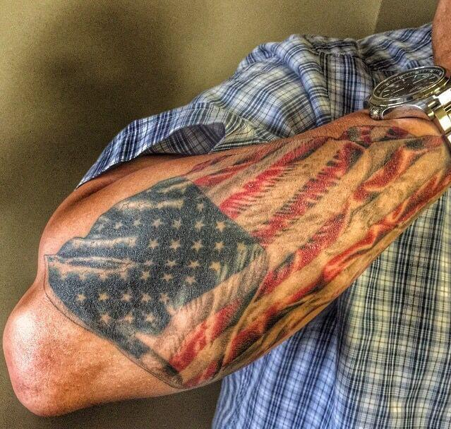 American Flag tattoo ideas for Men 11