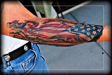 American Flag tattoo ideas for Men 12