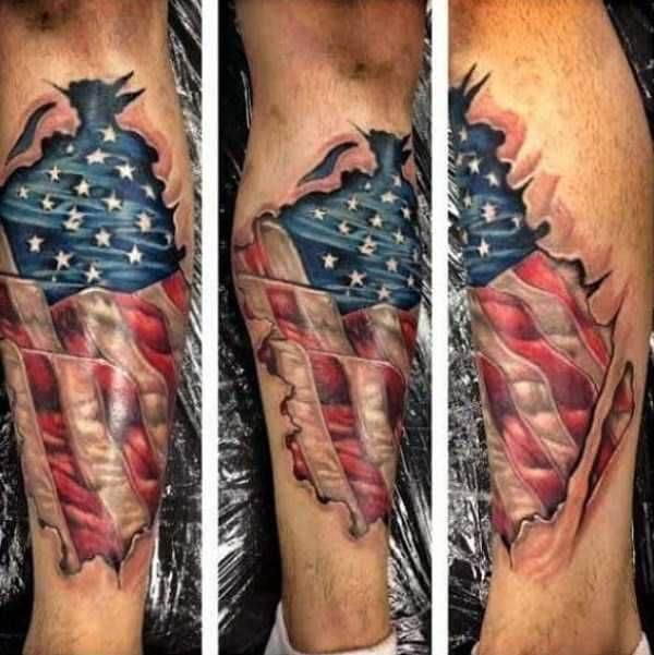 American Flag tattoo ideas for Men 10