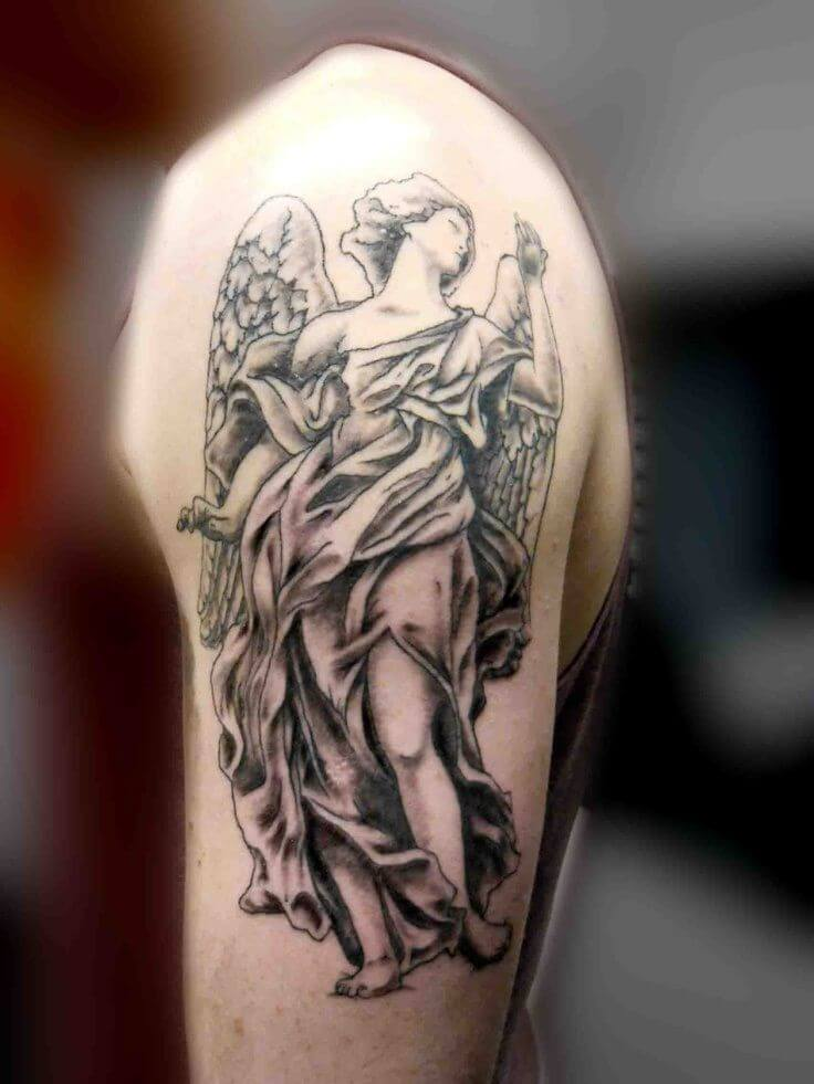 Interested in an Angel Design Tattoo? 12