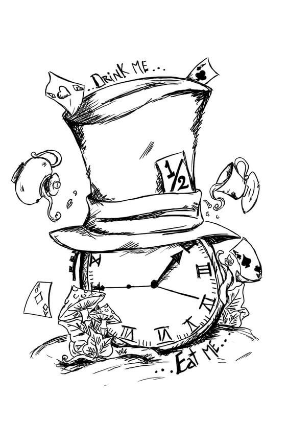 Alice In Wonderland Tattoo Design Ideas Seriously Great