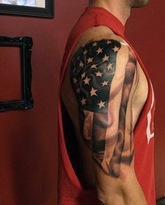 American Flag tattoo ideas for Men 5