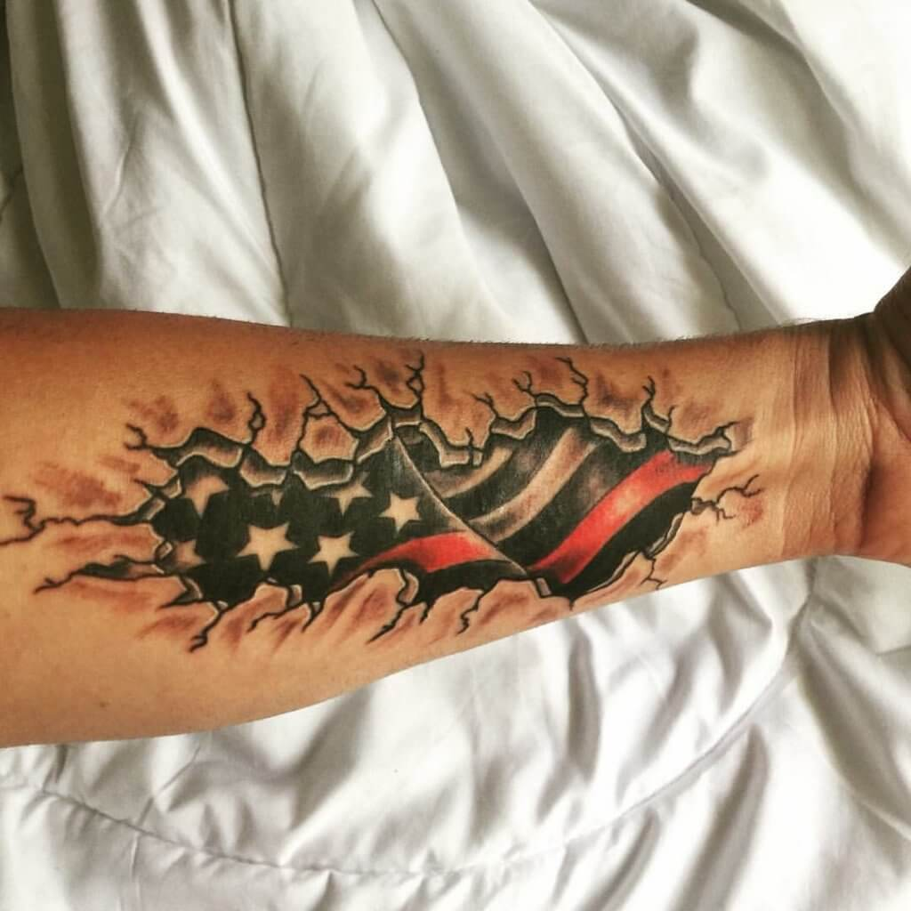 American Flag tattoo ideas for Men 4