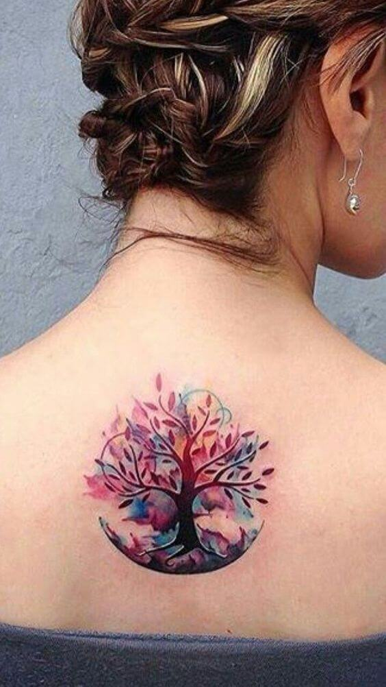 color tattoo for women