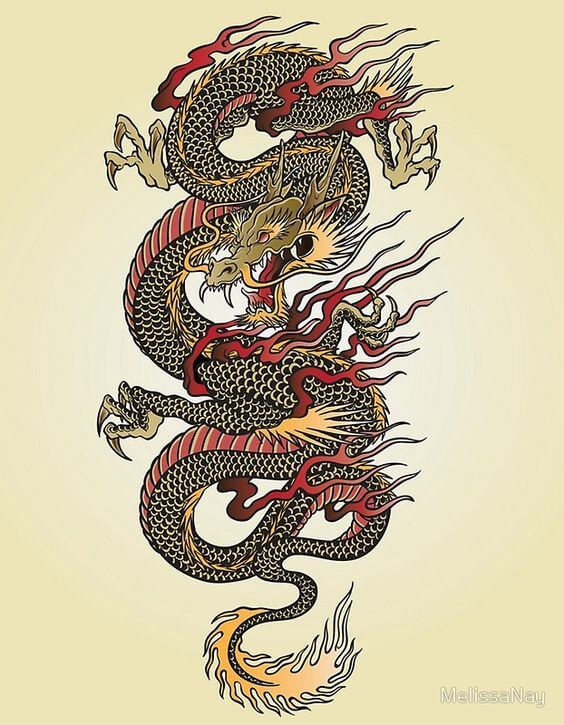 Eastern Dragon Tattoo design