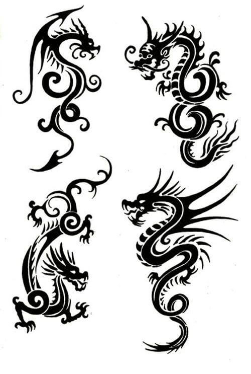 Karate Dragon Tattoos