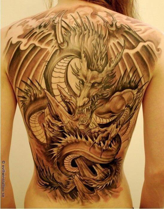 Modern Dragon Tattoos