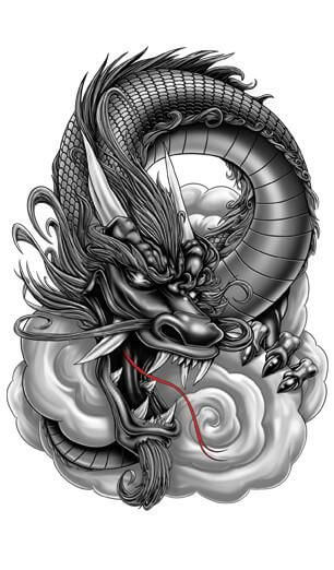 Serpentine Dragon tattoo