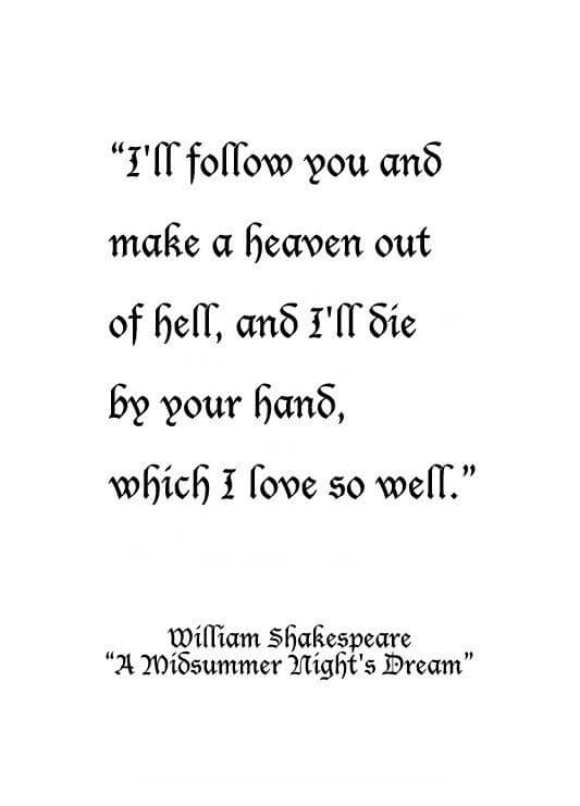 a midsummer night's dream quotes