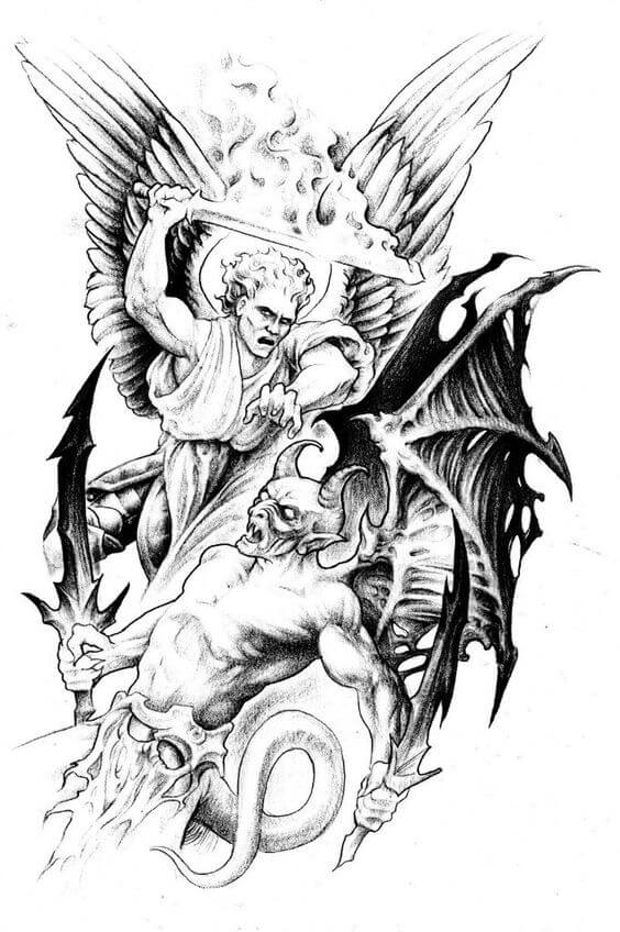 Devil Angel Tattoo Design Ideas and Meanings with a great gallery!
