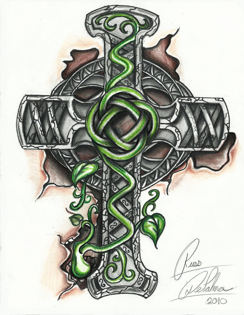 How to Find Cross Tattoo Designs 19