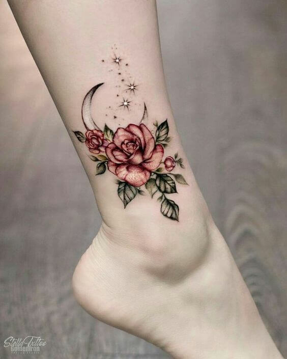 feminine ankle tattoos