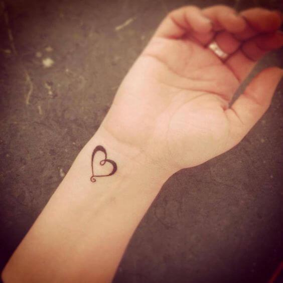 heart wrist tattoos for women