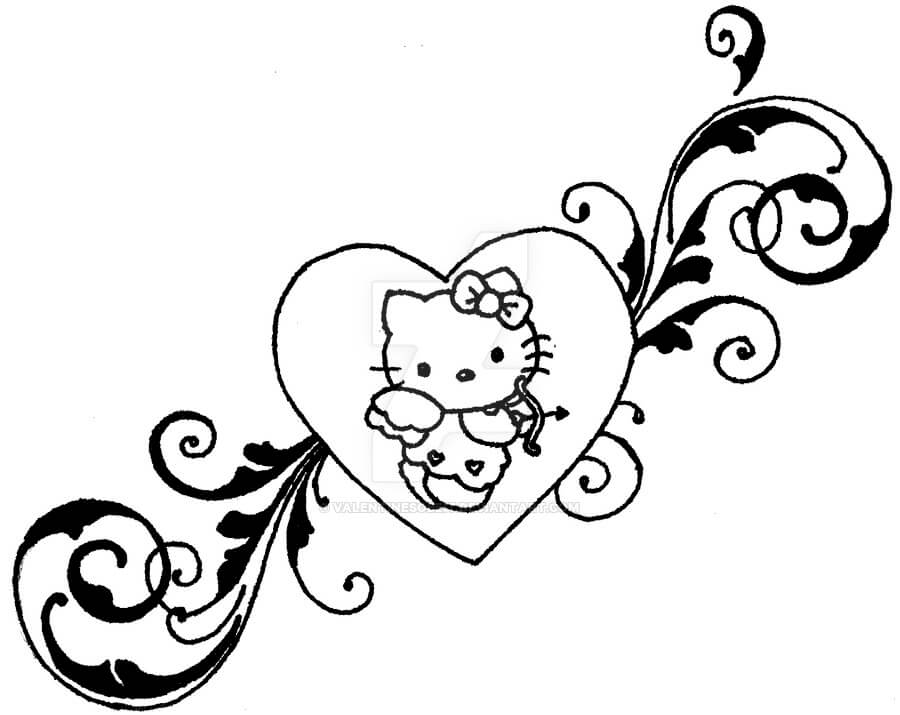 Hello Kitty Tattoo Design Resources 1