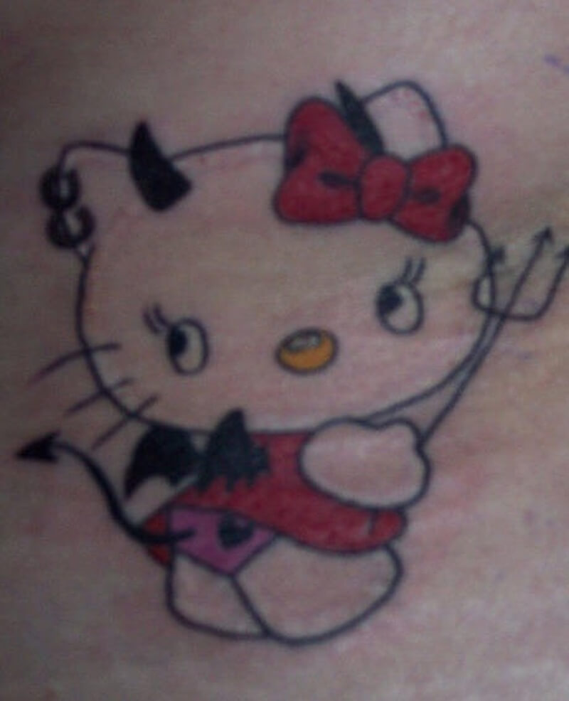 Hello Kitty Tattoo Design Resources 9