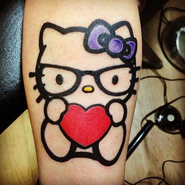 Hello Kitty Tattoo Design Resources 17
