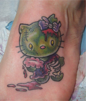 Hello Kitty Tattoo Design Resources 4